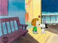 Animation Art:Production Cel, Peanuts Happy New Year, Charlie Brown Snoopy and PeppermintPatty Production Cel (Bill Melendez, 1986). ...