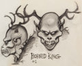 Animation Art:Concept Art, The Black Cauldron Horned King Concept Drawing by Mike Ploog (Walt Disney, 1985)....