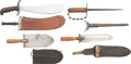 Edged Weapons:Knives, Lot of Four U.S. Army Military Knives, Circa 1880-1917.. ... (Total: 4 Items)