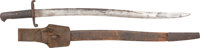 Possibly Confederate Pattern 1856 Enfield Sword Bayonet Complete with Scabbard and Leather Frog