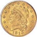 Early Half Eagles, 1813 $5 BD-1, R.2, MS64+ PCGS. CAC....