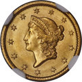 Gold Dollars, 1849 G$1 Open Wreath, D-4, Close Stars, MS65 NGC....