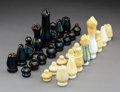 Glass, A Thirty-Two-Piece Charles Lotton Glass Chess Set, Crete, Illinois, 1972. Marks: Lotton, #2, 1972. 6 inches (15.2 cm) (t... (Total: 32 Items)