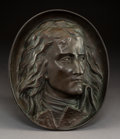 Sculpture, Jean Pierre Victor Huguenin (French 1802-1860). Medallion of General Napoleon Bonaparte, early 19th century. Bronze. 15 ...