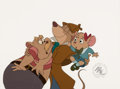 Animation Art:Production Cel, The Great Mouse Detective Basil, Dawson and OliviaProduction Cel (Walt Disney, 1986). ...