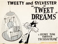 Animation Art:Production Drawing, Tweet Dreams Tweety and Sylvester Publicity/Lobby Card Illustration Original Art (Warner Brothers, 1959)....