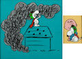 Animation Art:Production Cel, Peanuts It's the Great Pumpkin, Charlie Brown/It's Your Dog, Charlie Brown Snoopy and Charlie Brown Production Cel...