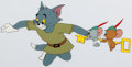 Animation Art:Production Cel, Robin Hoodwinked Tom, Jerry, and Tuffy Color Model Cel Groupof 2 (MGM, 1958). ...