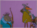 Animation Art:Color Model, Robin Hood Crane-Disguised Robin Color Model Cel (Walt Disney, 1973)....