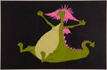 Animation Art:Color Model, Pete's Dragon Elliott/Madame Mim Color Model Cel (WaltDisney, 1977)....