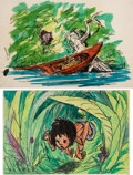 Animation Art:Production Drawing, Jungle Book Storyboard (Walt Disney, 1967)....