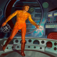 Hubert Rogers (American, 1898-1982) Slan, Astounding Science Fiction cover, October 1940 Oil on board 20 x 20 inches
