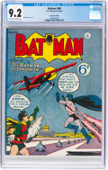 Golden Age (1938-1955):Superhero, Batman #60 Australian Edition (K. Gordon Murray Productions Inc., 1955) CGC NM- 9.2 Off-white to white pages....