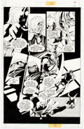 Original Comic Art:Panel Pages, Joe Quesada and Kevin Nowlan Batman: Sword of Azrael #3 Story Page 14 Original Art (DC, 1992)....