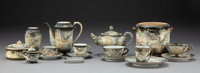 An Assembled Thirty-Seven-Piece Japanese Dragonware Porcelain Tea Service, mid-20th century Marks: HAND PAINTED