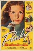 "Movie Posters:Drama, Pinky (20th Century Fox, 1949). Very Good/Fine on Linen. Poster (40"" X 60.75"") Style Y. Drama.. ..."