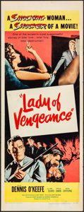 "Movie Posters:Drama, Lady of Vengeance (United Artists, 1957). Rolled, Fine/Very Fine.Insert (14"" X 36""). Drama.. ..."