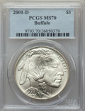 Modern Issues, 2001-D $1 Buffalo MS70 PCGS. PCGS Population: (1864). NGC Census: (2219). CDN: $200 Whsle. Bid for problem-free NGC/PCGS MS...