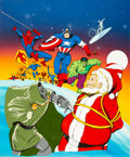 Animation Art:Concept Art, Will Meugniot - Marvel Comics Christmas TV Special Concept Art (New World Entertainment, 1990s). ...