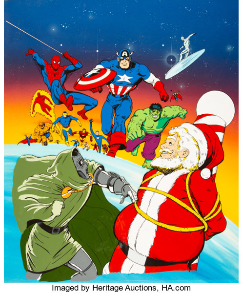 Marvel Christmas.Will Meugniot Marvel Comics Christmas Tv Special Concept