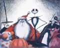 Animation Art:Poster, Tim Burton's Nightmare Before Christmas Limited Edition Lithograph Print #164/250 (Angeles Press, 1993). ...