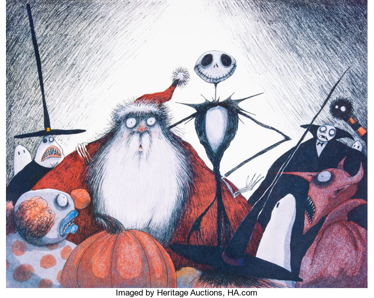 Tim Burton Nightmare Before Christmas Artwork.Tim Burton S Nightmare Before Christmas Limited Edition