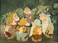 Animation Art:Production Cel, Snow White and the Seven Dwarfs Production Cel Setup with Master Production Background and Book (Walt Disn... (Total: 2 Original Art)