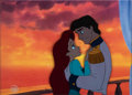 Animation Art:Production Cel, The Little Mermaid Ariel and Eric Production Cel (WaltDisney, 1989). ...