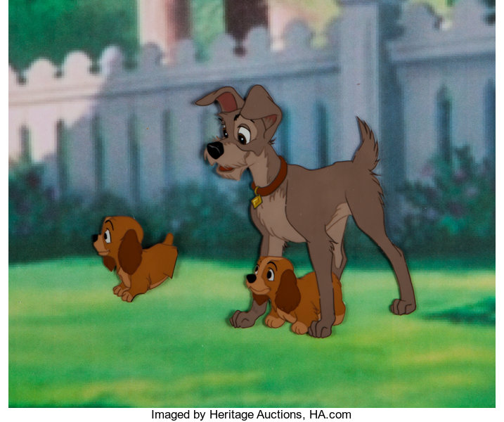 Lady And The Tramp Tramp And Puppy Production Cel Walt Disney Lot 96067 Heritage Auctions