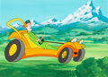 Animation Art:Production Cel, Speed Buggy Tinker and Speed Buggy Production Cel and MasterProduction Background (Hanna-Barbera, 1973)....
