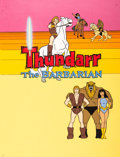 Animation Art:Presentation Cel, Thundarr the Barbarian Main Title Cel and Key Master Background (Ruby-Spears, 1980)....