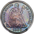 Seated Dimes, 1888-S 10C F-110, R.3, MS66 PCGS. CAC....
