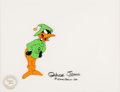 Animation Art:Production Cel, Duck Dodgers and the Return of the 24½ Century Daffy Duck Production Cel Signed by Chuck Jones (Warner Brothers, 1980...