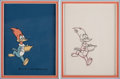 Animation Art:Production Cel, Genie with the Light Touch Woody WoodpeckerProduction Cel and Production Drawing with Walter Lantz Signat...