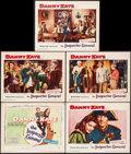 "Movie Posters:Comedy, The Inspector General & Other Lot (Warner Brothers, 1950).Overall: Very Fine-. Title Lobby Card & Lobby Cards (8) (11"" X14... (Total: 9 Items)"