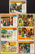 "Movie Posters:Fantasy, Son of Ali Baba & Other Lot (Universal International, 1952). Very Fine-. Title Lobby Card & Lobby Cards (6) (11"" X 14""). Fan... (Total: 7 Items)"