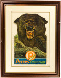 Advertising:Bar Bottles, Vintage Peters Ammunition Grizzly Bear Advertisement.. ...