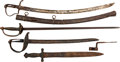 Edged Weapons:Swords, Lot of Five Relic Swords.. ... (Total: 5 Items)