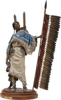 Sculpture:Contemporary (1950 to present), Dave McGary (American, 1958-2013). Stronghearts. Bronze with polychrome. 29-1/4 x 16 x 9 inches (74.3 x 40.6 x 22.9 cm)...