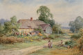 Works on Paper, Henry Sylvester Stannard (British, 1870-1951). The Chair Mender. Watercolor on paper. 13-1/2 x 20-1/2 inches (34.3 x 52....