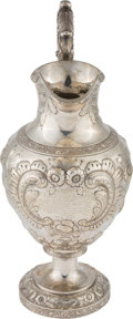 Antiques:Decorative Americana, Civil War Association: Bailey & Company Silver Presentation Pitcher to Future Civil War Surgeon....