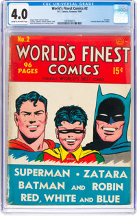 World's Finest Comics #2 (DC, 1941) CGC VG 4.0 Cream to off-white pages