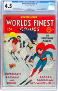 Golden Age (1938-1955):Superhero, World's Finest Comics #4 (DC, 1941) CGC VG+ 4.5 Cream to off-white pages....