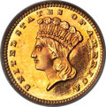 Proof Gold Dollars, 1888 G$1 PR66 PCGS. JD-1, High R.4....