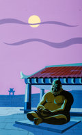 Animation Art:Painted cel background, Josie and the Pussycats Production Background(Hanna-Barbera, 1970)....