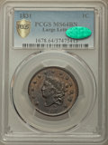 Large Cents, 1831 1C Large Letters, N-7, R.1, MS64 Brown PCGS. CAC....