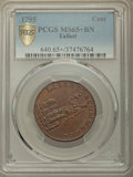 Colonials, 1795 CENT Talbot, Allum, & Lee Cent MS65+ Brown PCGS. Fuld-1, W-8620, R.1....