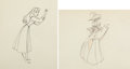 Animation Art:Production Drawing, Sleeping Beauty Briar Rose and the Mock Prince Animation Drawing (Walt Disney, 1959).... (Total: 2 Original Art)