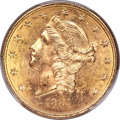 Liberty Double Eagles, 1884-S $20 MS63 PCGS. CAC....