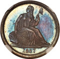 Proof Seated Dimes, 1837 10C No Stars, Large Date, F-101, R.7, PR66 NGC....